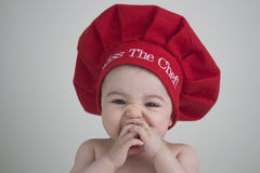 Kiss The Baby Chef royalty free stock photo