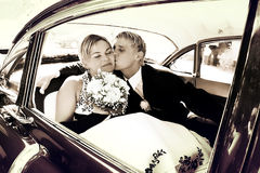 Kiss on the backseat Stock Images