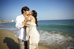Kiss on the beach Royalty Free Stock Photos