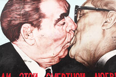 The Kiss - Berlin Wall Stock Photo