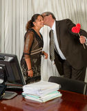 Kiss from the Boss Royalty Free Stock Image