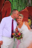 Kiss the bride Royalty Free Stock Photo