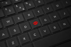 Kiss Button Stock Images