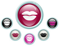 Kiss buttons stock illustration