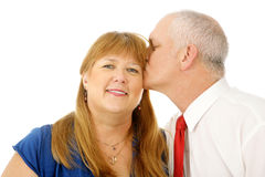 Kiss on the Cheek Stock Image