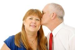 Kiss on the Cheek Stock Image