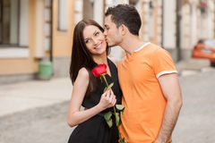 Kiss. Royalty Free Stock Photos
