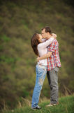 Kiss in Chin Stock Photography