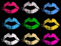Kiss Combination Royalty Free Stock Photography