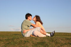 Kiss couple Royalty Free Stock Images
