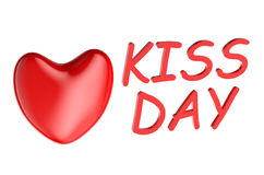 Kiss day concept Stock Images