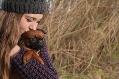 Kiss the dog Royalty Free Stock Photos