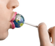 Kiss the earth Stock Images