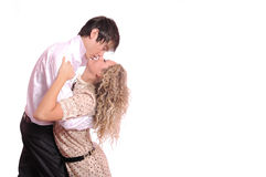Kiss in embraces Royalty Free Stock Photos