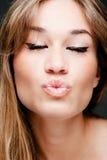 Kiss face Royalty Free Stock Image