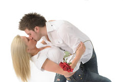 Kiss after flowers Stock Image