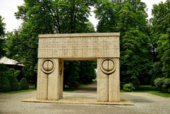 Kiss Gate artwork Constantin Brancusi Royalty Free Stock Image