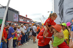 A Kiss Goodbye - Volvo ocean Race Mapfre Royalty Free Stock Photography