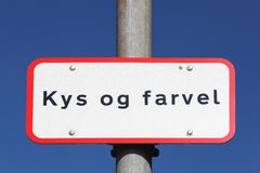 Kiss and Goodbye in danish drop off zone in Denmark Royalty Free Stock Photography