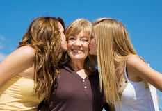 Kiss For Grandmother Royalty Free Stock Photo