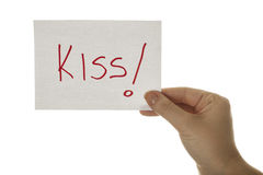 Kiss in hand Stock Image