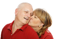 Kiss for Hubby Stock Photos