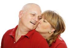 Kiss for Hubby Stock Photos