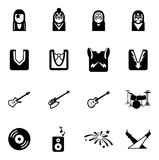 Kiss Icons Stock Photo
