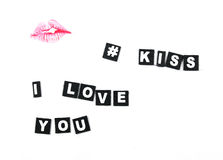 Kiss lips Stock Photo