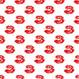 Kiss, Lips Seamless Pattern background. Vector Illustration isolated on white. Kiss, Lips Seamless Pattern background. Vector Illustration isolated on white Royalty Free Stock Images