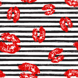 Kiss, Lips Seamless Pattern background. Vector Illustration isolated on white. Kiss, Lips Seamless Pattern background. Vector Illustration isolated on white Stock Image