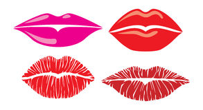 Kiss lips. Sensuality lips collection, lips set Royalty Free Stock Photos