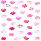 Kiss and lips textile pattern vector background. Kiss and lips textile pattern vector Stock Photos