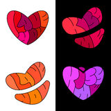 Kiss, love, heart. Royalty Free Stock Images