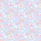 Kiss and Love pattern Stock Photo
