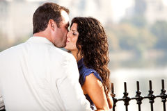 Kiss Man Woman Royalty Free Stock Image