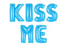 Kiss me, blue color Royalty Free Stock Photography
