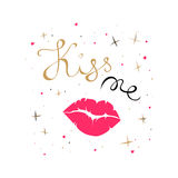 Kiss me card Stock Images