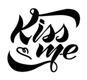 Kiss me royalty free illustration