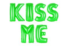 Kiss me, green color Royalty Free Stock Photography