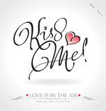 Kiss Me Hand Lettering (vector) Royalty Free Stock Images