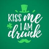 Kiss Me I Am Drunk Stock Image