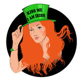 Kiss me I am Irish girl Royalty Free Stock Image
