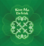 Kiss me I m Irish Royalty Free Stock Images