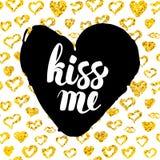 Kiss Me Postcard Design Stock Photo
