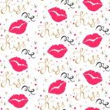 Kiss me seamless pattern Royalty Free Stock Photo