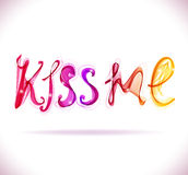 Kiss me - text, abstract illustration Royalty Free Stock Photos