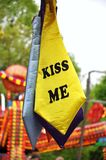 Kiss me tie Royalty Free Stock Image