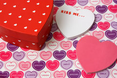 Kiss me on Valentines day Stock Images