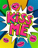 Kiss me word bubble. Royalty Free Stock Images